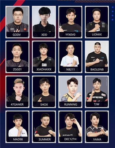 玩家票選出人氣最高的16名隊長領銜全明星賽